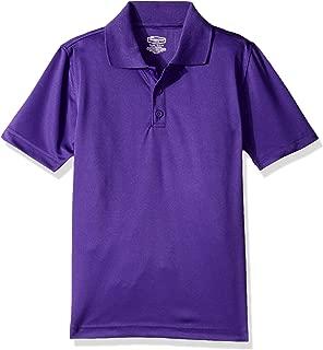 Classroom School Uniforms Boys' Big Youth Unisex Moisture-Wicking Polo Shirt, Purple, L