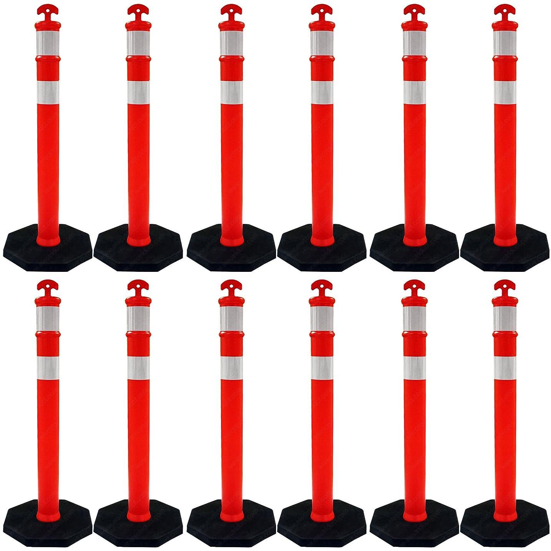 符号支出視線トラフィックDelineator投稿 12 Delineators TC-EZ-DLR-44X4-AR-R-11B-OR-12PK