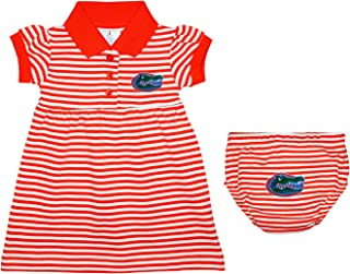 University of Florida Gators Striped Game Day Dress with Bloomer