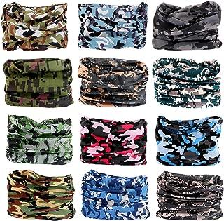 EKLOEN 12PCS/9PCS/6PCS Multifunctional Headband Scarf Bandana Headwrap Mask for Men and Women Magic Scarf for Sport and Casual
