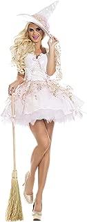 Women's White Magic Witch Costume