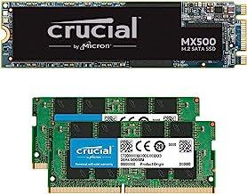 Crucial MX500 500GB M.2 SATA 6Gb SSD CT500MX500SSD4 Bundle with Crucial 16GB (2 x 8GB) DDR4 PC4-21300 2666MHz Memory Kit C...