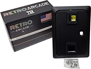 RetroArcade.us ra-coin-door-19 Arcade Game Single Entry Coin Door Blank, Coin mech's and Lock Sold Separately