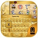 Golden Butterfly Theme&Emoji Keyboard
