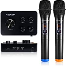 Sound Town 16 Channels Wireless Karaoke Microphone and Mixer System with Bluetooth, HDMI..