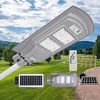 Mophorn 40W Solar Street Light LED Street Light with Remote Controller LED Solar Street Light Waterproof LED Radar Sensor Street Lamp for Outdoor Applications