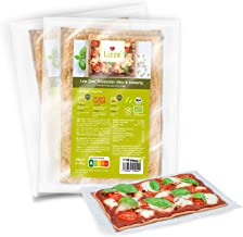 Lizza Low Carb Pizza Base Organic Gluten Free Vegan High in Protein and Fibre Suitable for Keto Low Carb Diabetic and Vegan Diet Only 5 Carbohydrates 2 Packs 2 pcs per Pack Estimated Price : £ 9,29