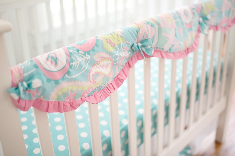 My Baby Sam Baby Crib Rail Cover, Pixie Aqua