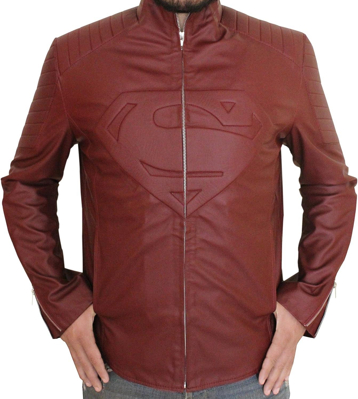 Mens Red Jacket Super Jacket with Super S & Logo for Man