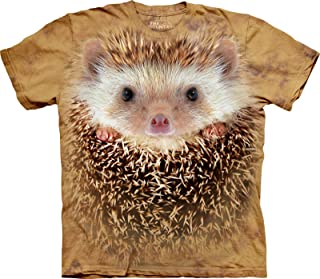 The Mountain Men's Tall Plus Size Big Face Hedgehog Short Sleeve T-Shirt, Sand, 3X-Large