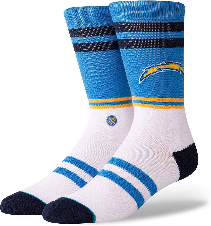 Stance M558C18CRS Men's Chargers Logo Sock, Blue - Medium (6-8.5)