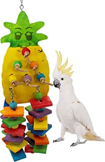 Bonka Bird Toys Medium Large Pineapple Wood Toy Parrot cage Toys Cages African Grey Conure.