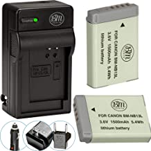 BM Premium 2-Pack of NB-13L Batteries and Charger Kit for Canon PowerShot SX740 HS, G1 X Mark III, G5 X, G5 X Mark II, G7 ...