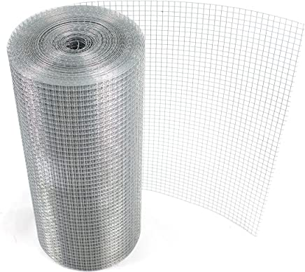 Mesh breadth 50x50mm 0.72mm Galvanized The Fellie Chicken Wire Galvanised Steel Metal 1.2x25m Garden Wire Mesh for Aviary Fence Chicken Rabbit Protection