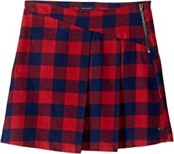 Plaid Zipper Skirt (Big Kids)