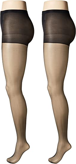 Sheer Pantyhose with Control Top 2-Pair Pack