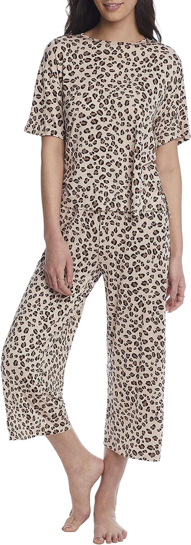 DKNY Sleepwear Knit Cropped Pajama Set