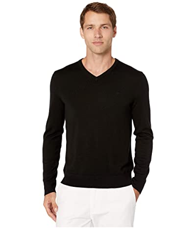 Calvin Klein Merino V-Neck Sweater 12 (Black) Men