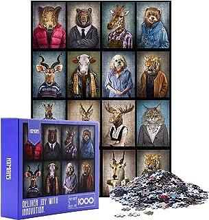 HXMARS Jigsaw Puzzles 1000 pièces pour Adultes Enfants, Grand Jeu de Puzzles pour modèle Famille-Animal, Art avec modèle A...