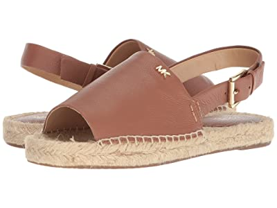 MICHAEL Michael Kors Fisher Espadrille (Luggage Tumbled Leather) Women