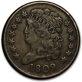 1809 Half Cent VF Cent Very Fine