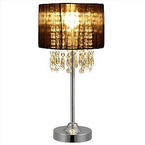 [lux.pro] Tischleuchte Bellevue 1 x E14 Sockel 40cm x Ø 20 cm Tischlampe Nachttischlampe Schreibtischlampe