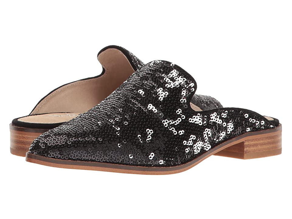 ede2d12bb2c Shellys London Cantara Mule (Black Sequin) Women s Flat Shoes