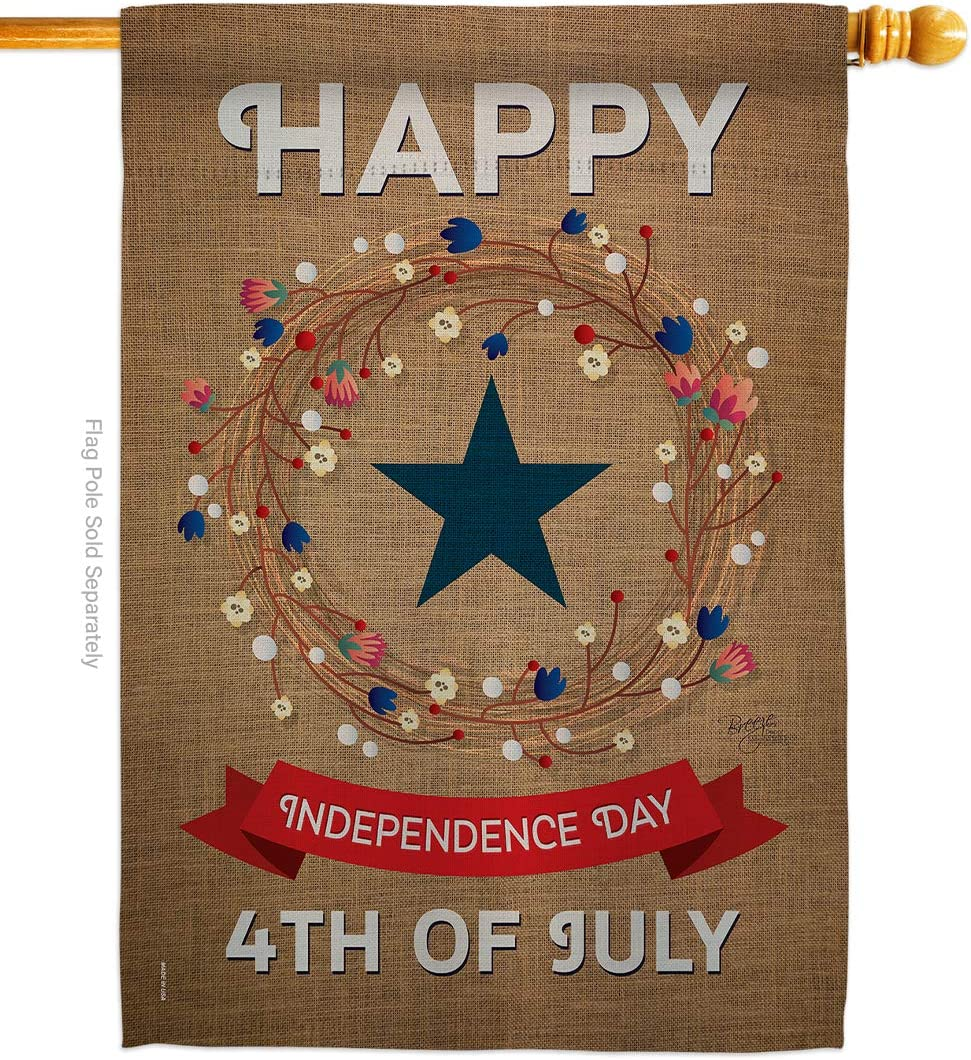 Breeze Decor Independence New NEW mail order Day House Jul Patriotic Fourth of Flag