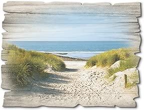 Leinwandbild Canvas Wandbild Kunstdruck Fischerboot an der Küste der Ostsee