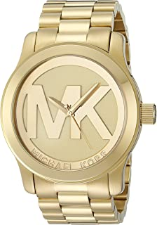 Michael Kors Womens Runway Gold-Tone Watch MK5473