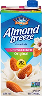 Almond Breeze Dairy Free Almondmilk, Unsweetened Original, 32 FL OZ