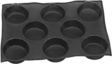Silicone Non-stick Perforated Baking Mold Mat 8 Cavities for 4-Inch Buns Hamburger Bread Maker Pan Tray