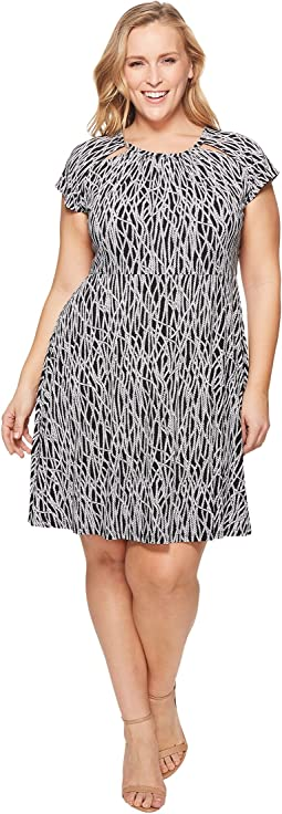 MICHAEL Michael Kors Plus Size Twisted Rope SH Neck Dress