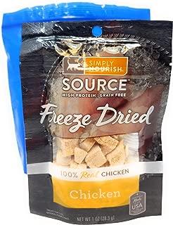 Tesadorz Simply Nourish Freeze Dried Cat Treats, 1 Ounce (Pack of 3) Resealable Bags