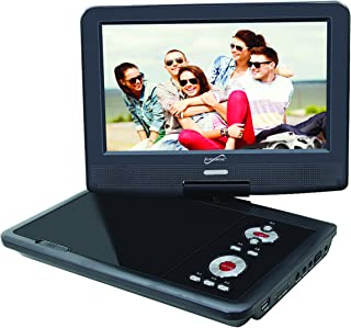 "SuperSonic SC-259 Portable DVD Player 9"" and Digital TV: USB and SD inputs with Built-in Lithium Ion Battery and Swivel Display"