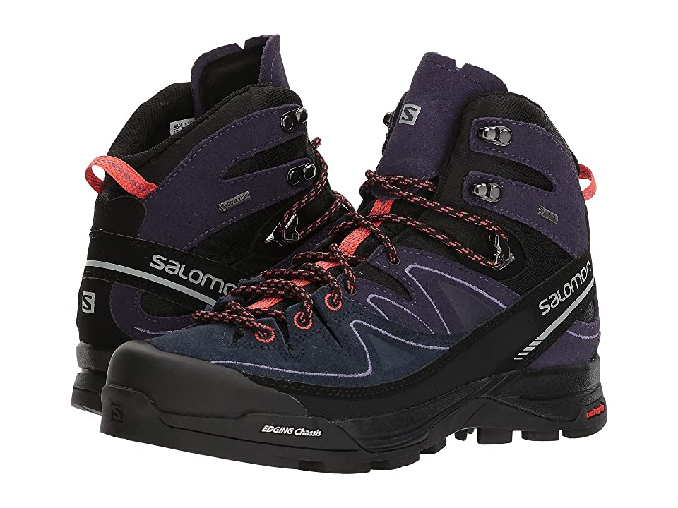 Salomon X Alp Mid LTR GTX (Black/Nightshade Grey/Coral Punch) Women