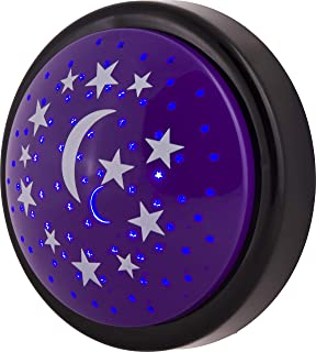 GE LED Star Tap Light, Projects Moon and Stars on the Ceiling, Tap On/Off, Battery Operated, 30 Minute Time Out Feature, Ideal for Kid's Rooms and Play Rooms, 17457