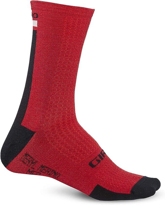 GIRO MERINO SEASONAL WOOL WINTERSOCKEN dark red//black//gray Gr L