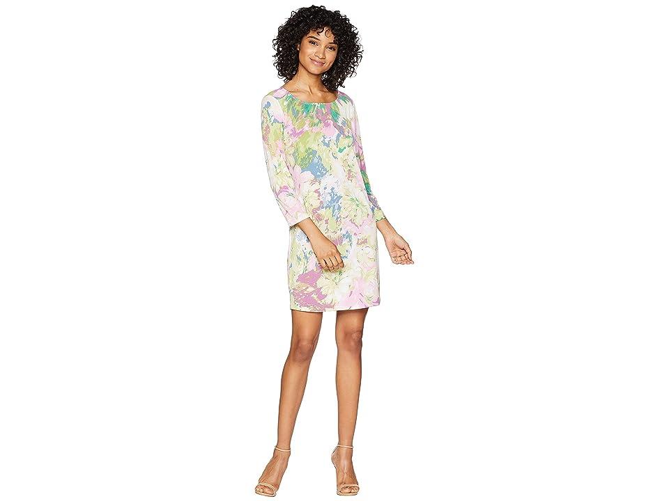 BCBGMAXAZRIA Novelty Knit City Tunic Dress (Pink Multi) Women