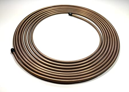 """The Stop Shop 5/16"""" (.312"""") Copper Nickel Roll / Coil of Fuel or Transmission Line - 25 ft.: image"""