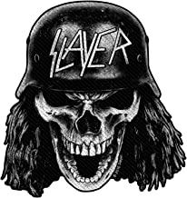 Slayer Patch Wehrmacht Skull Band Logo Cut Out Official Black Woven