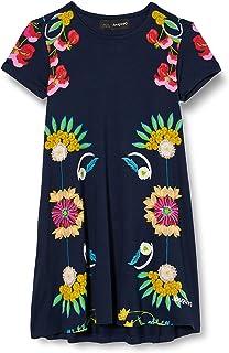 Desigual Girls' Dress Short Sleeve, EU