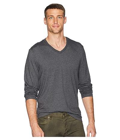 Calvin Klein Long Sleeve Jersey V-Neck T-Shirt (Steel Gray Heather) Men
