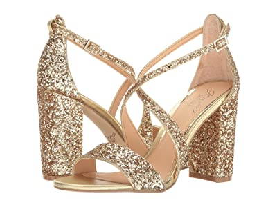 Jewel Badgley Mischka Cook (Gold Glitter) High Heels