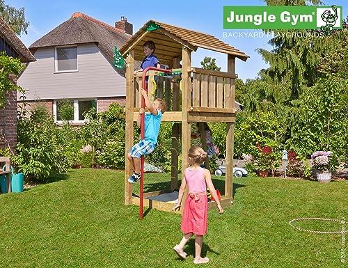 Spielturm Jungle Cottage - Set mit Feuerwehrstange