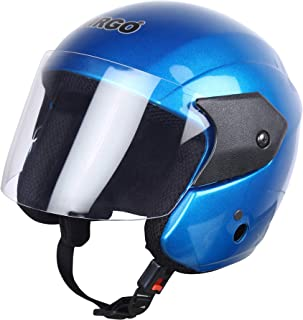 Virgo Glossy Clear Helmet (Medium, Blue)