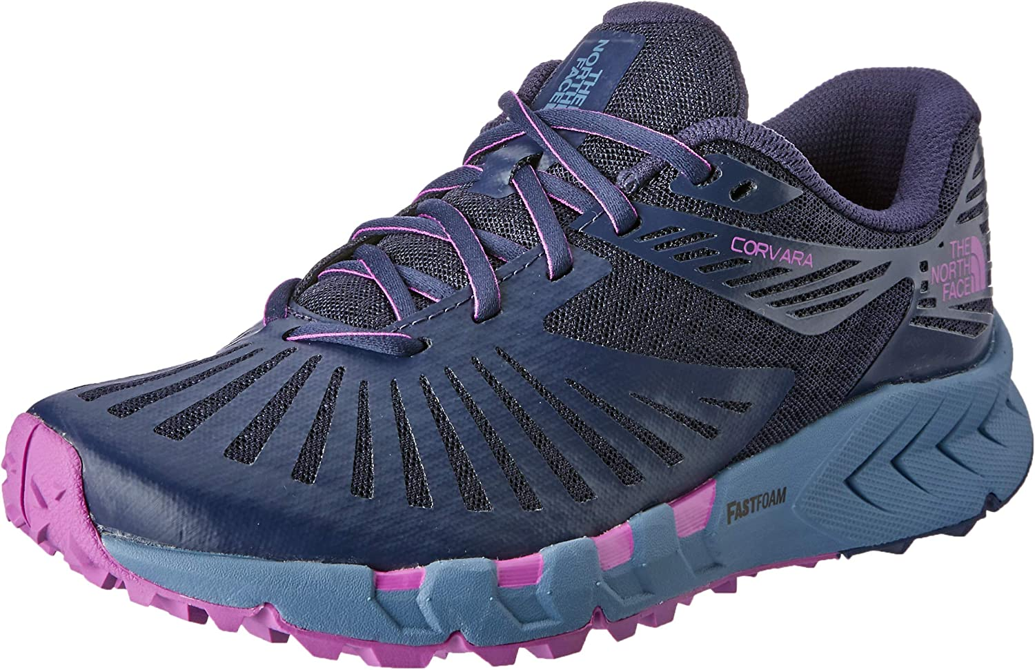 The North Face Women's Corvara Trail Running shoes, Peacot NVY PRP Catus Flwr
