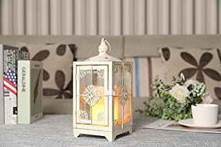 "JHY DESIGN Decorative Lanterns 11"" High Metal Candle Lanterns Vintage Style Hanging Lantern for Indoor Outdoor Events Pari..."
