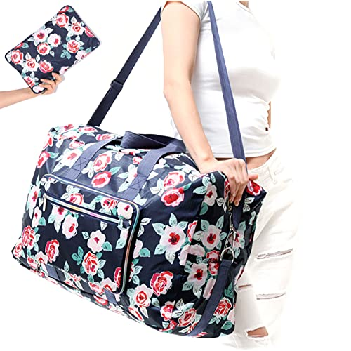 WFLB Travel Duffel Bag Foldable Floral Large Travel Bag Weekend Bag Checked Bag  Luggage Tote 18 fdaca60fca7cb