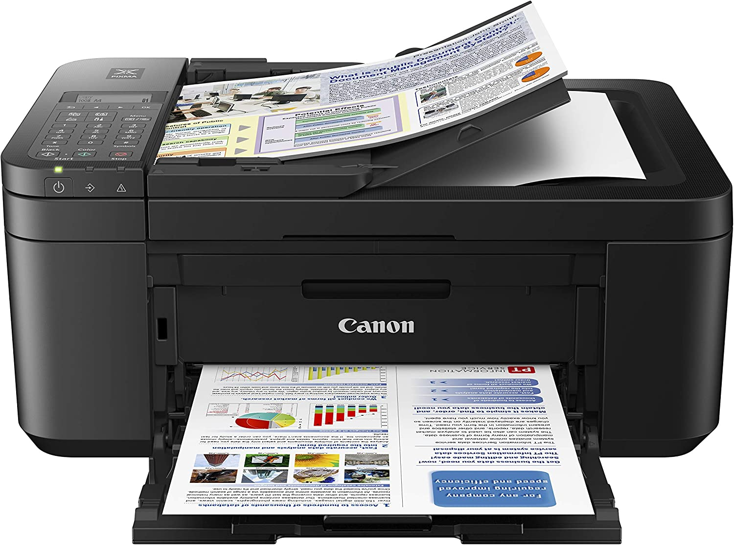 Amazon.com: Canon PIXMA TR4520 Wireless All in One Photo Printer with Mobile Printing, Black, Works with Alexa : Office Products